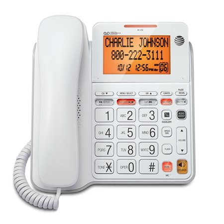 AT&T CL4940 Standard Phone - White - Itt Corded Telephone