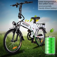 Ancheer 18.7'' Foldable Adjustable Electric Mountain Bike Power Bicycle with Detachable Li-Battery
