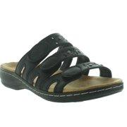 0ffcdd766f91 Pierre Dumas Women s Cami 1 Black Faux Leather 3 Strap Velcro Backless  Sandal Size  7