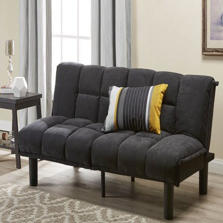 Mainstays Tufted Microfiber Futon, Multiple Colors