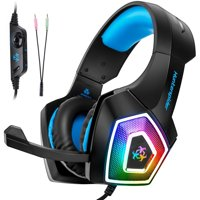 3.5mm Audio Jack PC Gaming Headset for PS4 Xbox One, PC Gaming Headphone with Mic