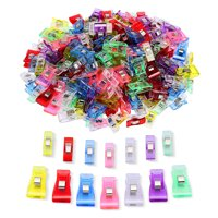 IPOW 100pcs Sewing Quilting Clips Multipurpose Wonder Binding Clips for Fabric and Craft Clip, Quilting, Sewing, Paper and Photo Clamp, Assorted Size, 70 Small 30 Medium