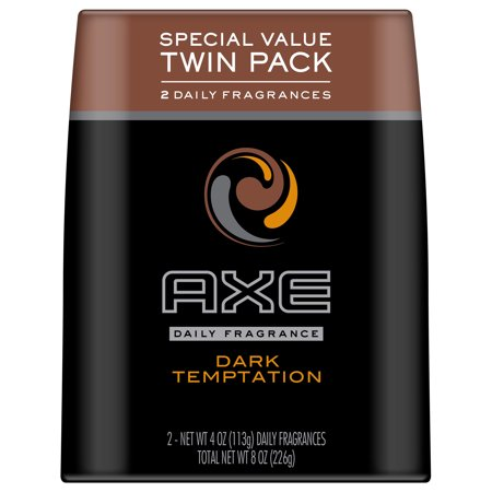 AXE Dark Temptation Body Spray, 8 oz, Twin Pack