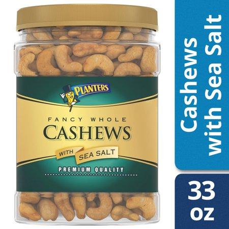 Planters Fancy Whole Cashews With Sea Salt, 33 oz