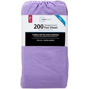 Mainstays Full 200 Thread Count Flat Purple Bed Sheet Set, 1 Each