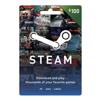 Steam $100 Giftcard, Valve [Physically Shipped Card]