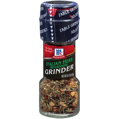 Spices And Herbs ((2 Pack) McCormick Italian Herb Seasoning Grinder, 0.77 oz )