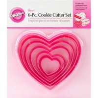 Wilton Cookie Cutter Set, Heart, 6 pc.
