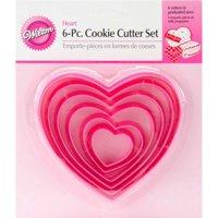 Wilton Cookie Cutter Set, Heart, 6 pc.