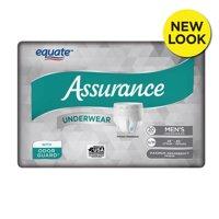 Equate Assurance Underwear for Men, Maximum, S/M, 20 Ct