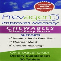 Prevagen for Healthier Brain, Sharper Mind and Clearer Thinking, Dietary Supplement 30 Chewable Mixed Berry Flavor Tablets