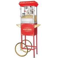 Foundation 8oz Full Popcorn Popper Machine with Cart by Great Northern Popcorn