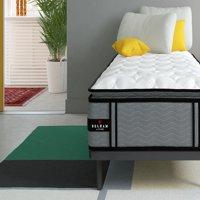 Belham Living 12 inch Hybrid Coil, Latex and Gel Memory Foam Mattress