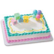 B A Y Blocks DecoSet Cake Decoration 4 Dimensional In Soft Pastel Colors Spelling Out