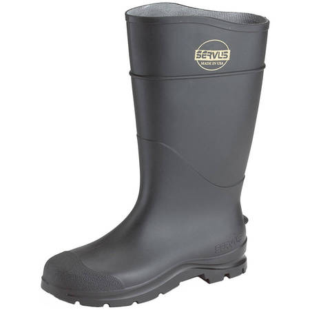 Norcross Men's Waterproof PVC Knee Boots (Studded Knee High Boots)