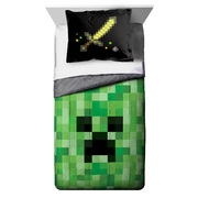 Minecraft Twin or Full Comforter and Sham, 2 Piece