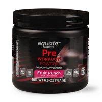 Equate Pre-Workout Powder, Fruit Punch, 6.6 Oz