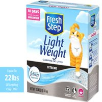 Fresh Step Lightweight Extreme Scented Litter with the Power of Febreze, Clumping Cat Litter, 15.4 lbs