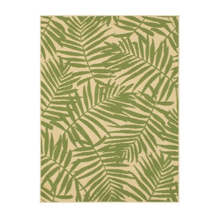 Mainstays Palm Indoor Outdoor Area Rug 5 X 7 Walmart Com