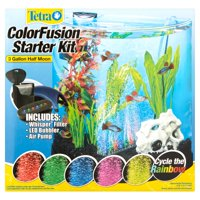 Tetra ColorFusion 3-Gallon Half Moon Aquarium Kit with LED