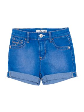 Roll Cuff Denim Shorts (Toddler Girls)