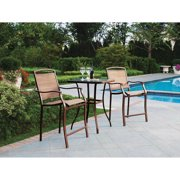 Mainstays Sand Dune 3-Piece High Outdoor Bistro Set, Tan