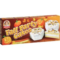 Little Debbie Family Pack Fall Party Cakes Vanilla Snack Cakes, 12.75 oz