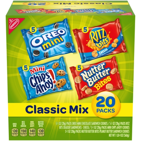 Nabisco Mini Chips Ahoy!, Oreo, & Nutter Butter Variety Pack, 1 Oz., 20 Count - Herbalife Variety Pack