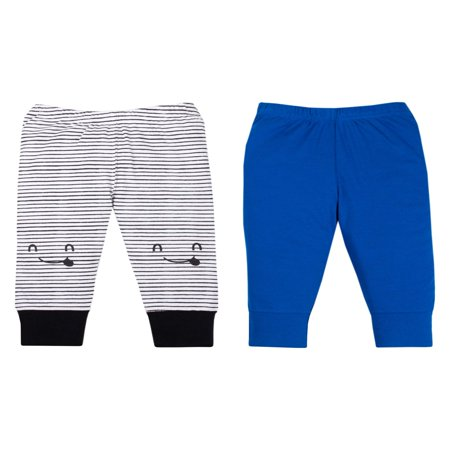 Organic Cotton Boys Pant (100% Organic Cotton Novelty Knit Pants, 2-pack (Baby Boys) )