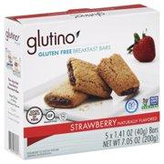 (3 Pack) Glutino, Gluten Free, Strawberry Breakfast Bars, 7.05 Oz, 6 Ct