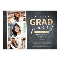 Personalized Graduation Invitation - Photostrip - 5 x 7 Flat