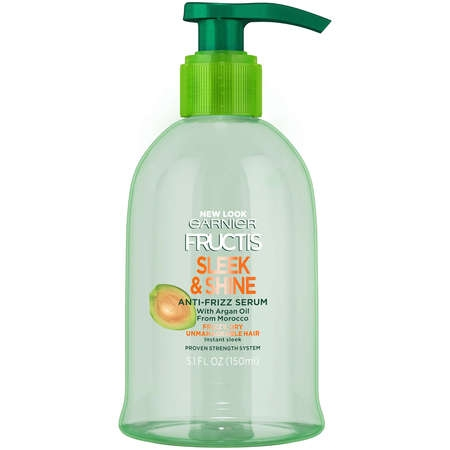 Garnier Fructis Sleek & Shine Anti-Frizz Serum 5.1 FL (Best Drugstore Anti Frizz Serum)