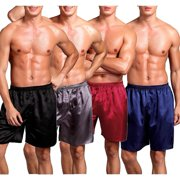 96ce270303c4 Men Sleepwear Underwear Silk Satin Boxers Shorts Nightwear Pyjamas L XL XXL
