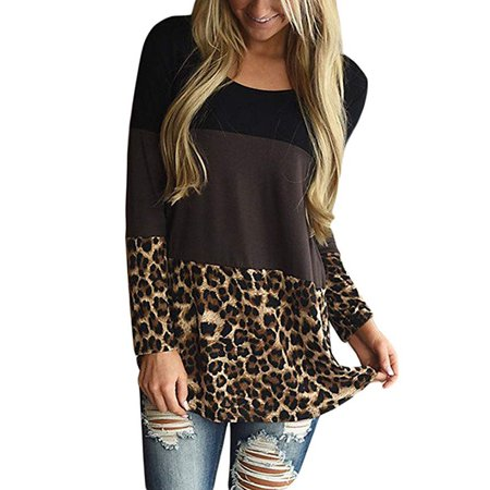 Womens Back Lace Color Block Tunic Tops Casual Long Sleeve T-Shirts Blouses with Plaid Hem