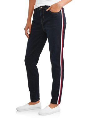 APII Women's Sculpt and Lift Jean with Side Knit Stripe