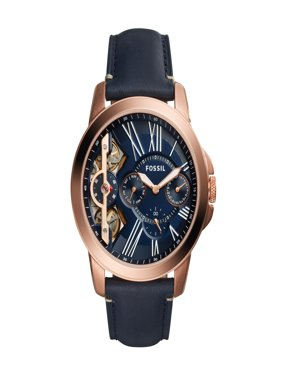 Fossil Men's Grant Automatic Skeleton Dial Leather Watch (Style: ME1162)