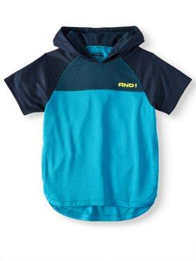 Short Sleeve Basketball Hoodie - Polyester Activewear Sweatshirt (Little Boys & Big Boys)