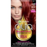Garnier Olia Oil Powered Permanent Hair Color, 6.60 Light Intense Auburn