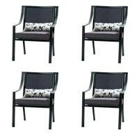 Mainstays Alexandra Square Patio Dining Chairs, Set of 4