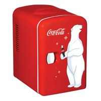 Coca-Cola Personal 6 Can Portable Mini Fridge with Warming, Red