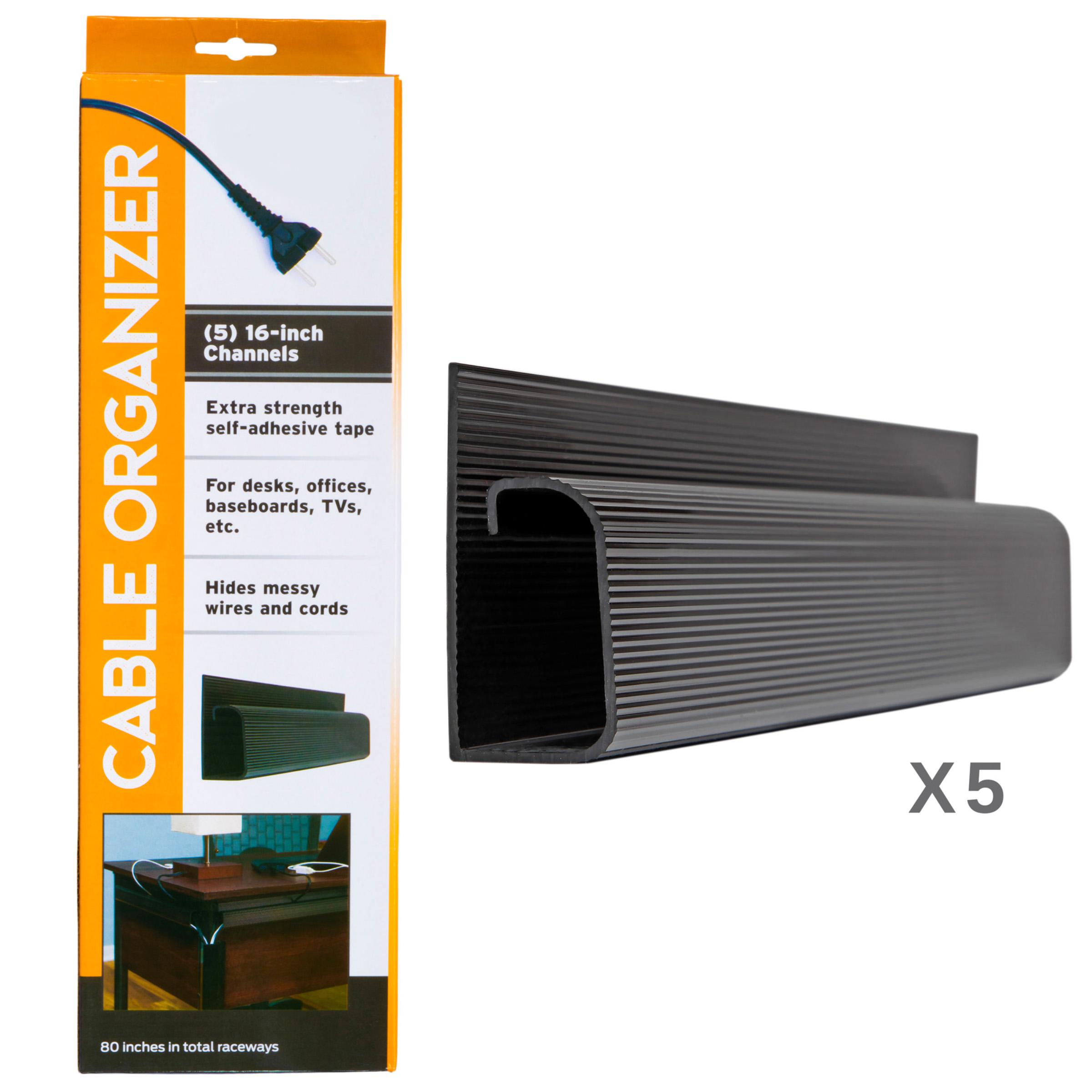 Black J Channel Cable Raceway 48 Length