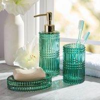 3 Piece Glass Bath Accessory Set by Drew Barrymore Flower Home