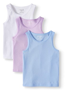 Solid Tank Tops, 3pc Multi-Pack (Toddler Girls)