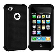 d629079eb8678a Importer520 Hybrid Armor Silicone + Hard Case Cover for Apple iPhone 4