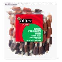 "Ol' Roy 5"" Rawhide Tri-Flavored Kabobs, 24 oz"
