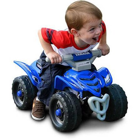 Foot To Floor Yamaha Raptor ATV Ride-On Blue - Ride around in style like big Brother!