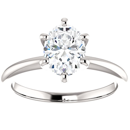 Platinum Diamond Solitaire (Platinum 1 Ct Oval Diamond H/SI Solitaire Engagement Ring)