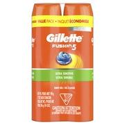 Gillette Fusion Ultra Sensitive Hydra Gel Men's Shave Gel Twin Pack, 14oz