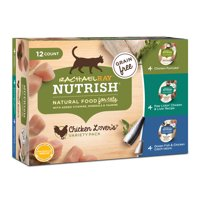 Rachael Ray Nutrish Natural Wet Cat Food Variety Pack, Grain Free, Chicken Lovers, 2.8 oz tubs, Pack of 12