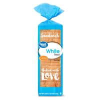 Great Value White Bread, Round Top, 20 oz